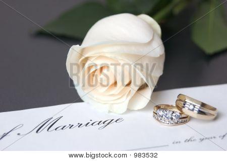 wedding rings & marrage certificate series image 1 poster