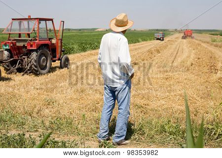 Peasant Standing In The Field
