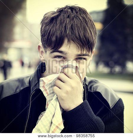 Teenager With Handkerchief