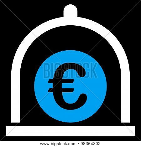Euro Standard Flat Icon From Business Bicolor Set