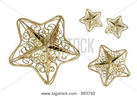 stars which are isolated on a white background poster