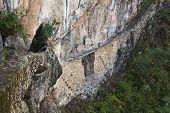 Inca bridge of Machu Picchu