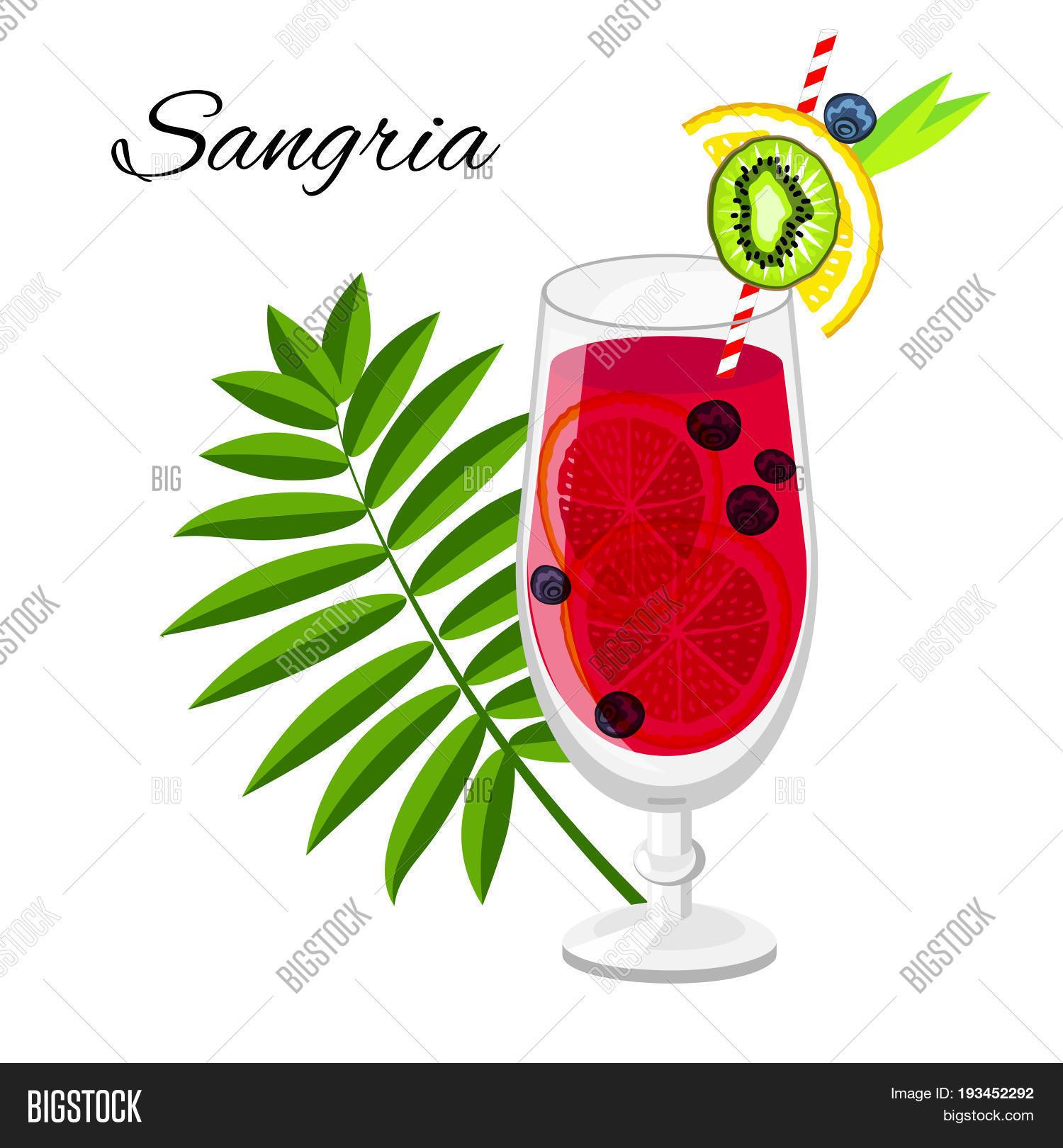 Sangria Fruit Cocktail Image Photo Free Trial Bigstock