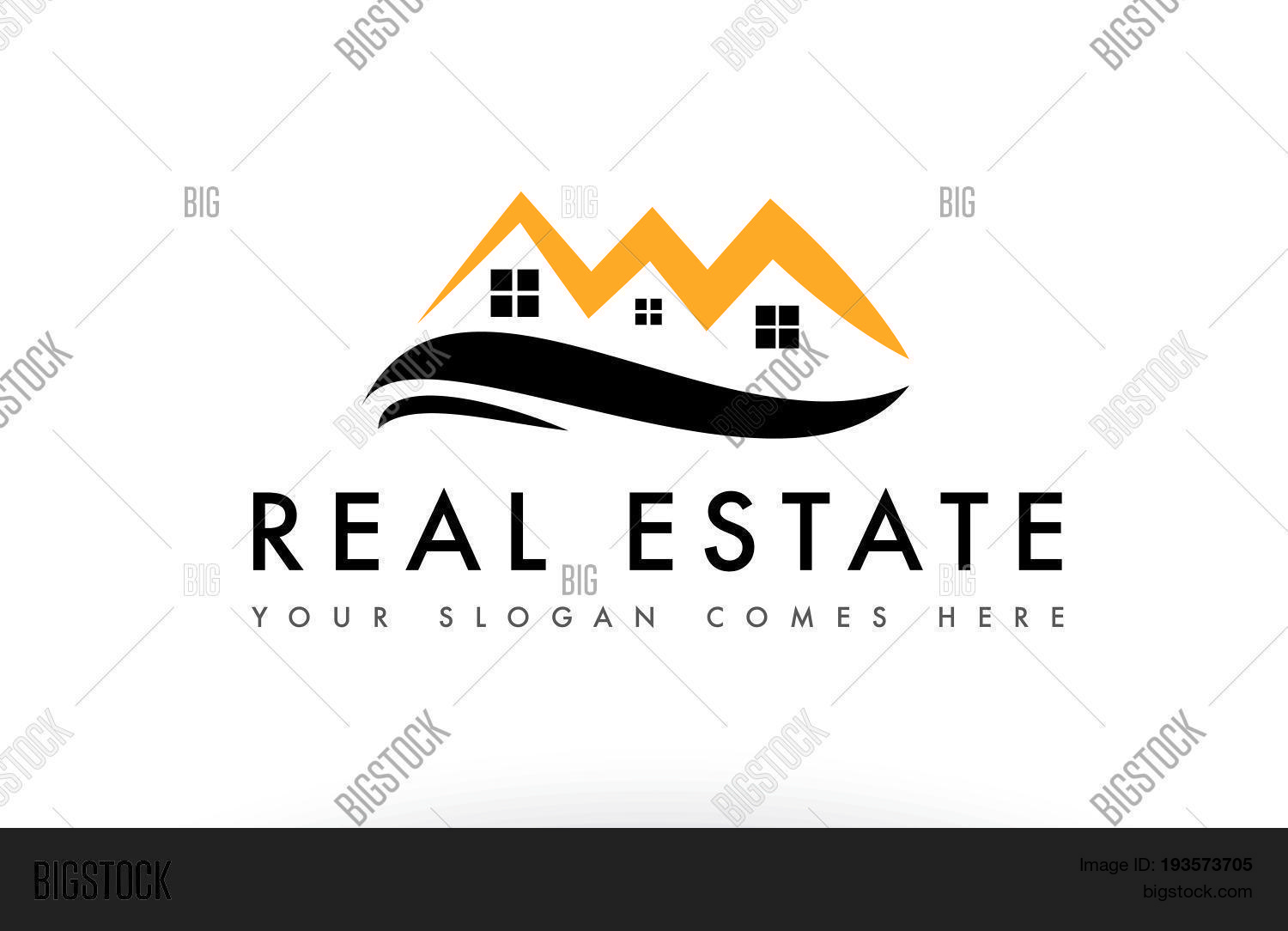 Real Estate House Vector Photo Free Trial Bigstock