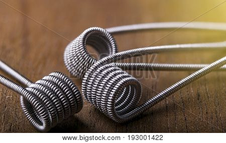 Twisted Vaping Coils For Electronic Cigarette Or E Cig.