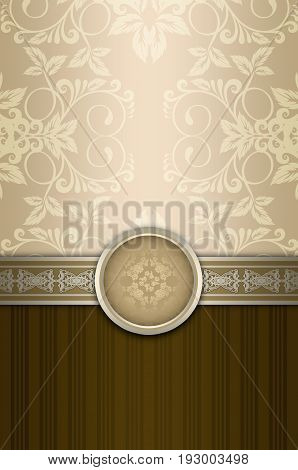 Vintage background with decorative borderframe and old-fashioned pattern and ornament.