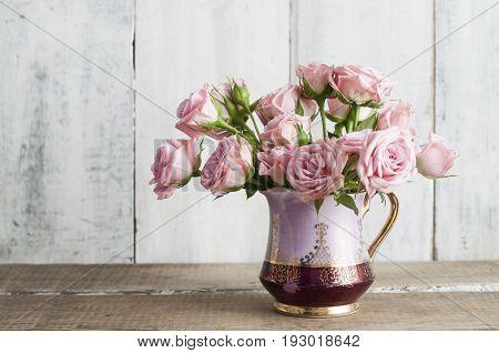 Pink Blooming Roses