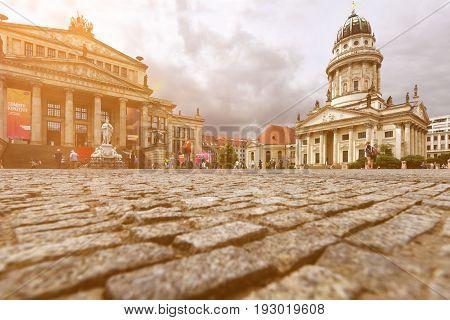 24th of June 2017 Berlin Germany: At the Gendarmenmarkt in Berlin