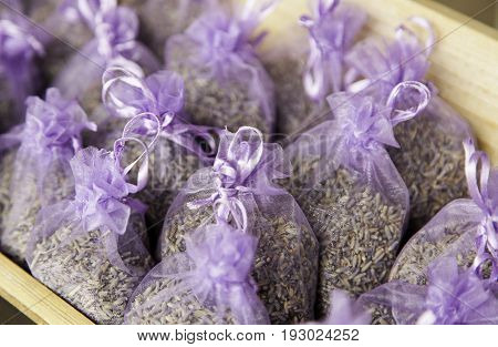 Aromatic and decorative bags of natural lavender nature freshener