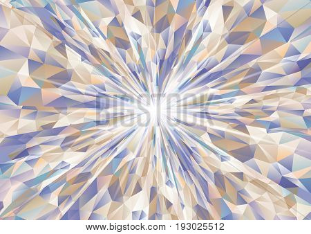 Cubism Background Radiation Cool Navy Blue And Beige