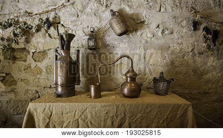 Ancient Bronze Alembic