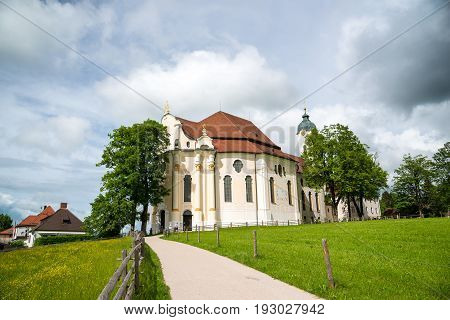 Pilgrimage Church of Wies Bavaria Germany. UNESCO World Heritage Site poster
