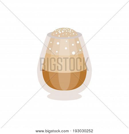 Coffee macchiato in a glass vector Illustration isolated on a white background