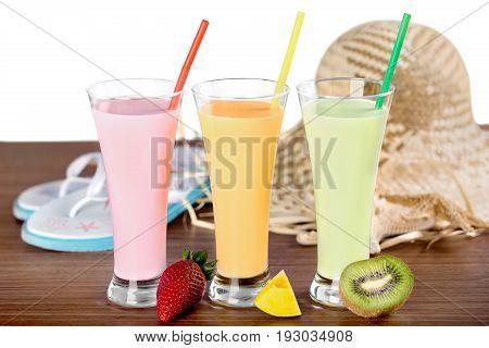 Color colorful healthy milk shake milkshakes green