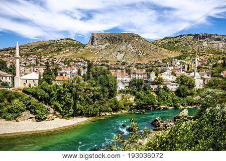Bosnia and Herzegovina, Mostar old town landscape