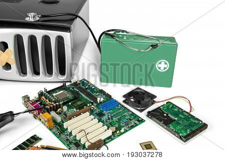 Computer pc repair diagnostic equipment healthy container