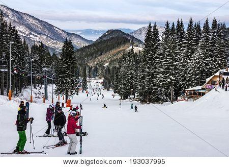 Jasna, Slovakia - June 27, 2017: Slope on the skiing resort in Jasna, Slovakia