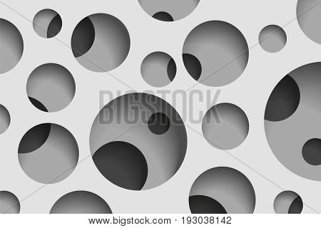 Round holes in the gray surface, multilevel abstraction, vector minimal background