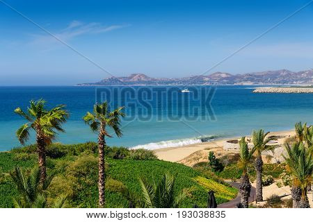 Beach and coastline of Cabo San Lucas Mexico