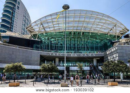 Lisbon, Portugal - May 5, 2017: Shopping center Vasco da Gama in Park of Nations