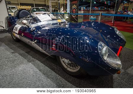 MAASTRICHT NETHERLANDS - JANUARY 15 2016: Sports car Westfield Eleven. British sports car and kit car based on the Lotus Eleven. International Exhibition InterClassics & Topmobiel 2016