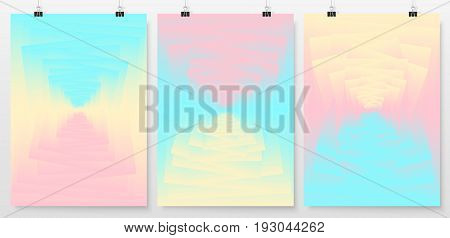 Poster Backgrounds Set Business Backdrops Collection Holographic 2
