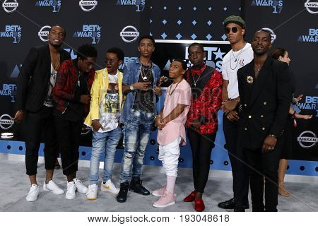 LOS ANGELES - JUN 25:  Guest, Caleb McLaughlin, Myles Truitt, Jahi DiAllo Winston, Dante Hoagland, Tyler Marcel Williams at the BET Awards at the Microsoft Theater on June 25, 2017 in Los Angeles, CA