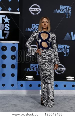 LOS ANGELES - JUN 25:  Kat Graham at the BET Awards 2017 at the Microsoft Theater on June 25, 2017 in Los Angeles, CA