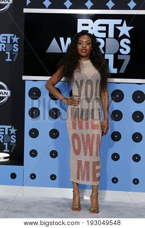 LOS ANGELES - JUN 25:  Lady Leshurr at the BET Awards 2017 at the Microsoft Theater on June 25, 2017 in Los Angeles, CA