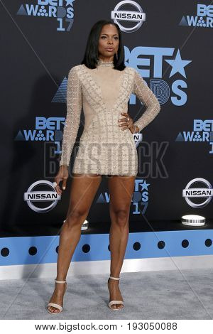 LOS ANGELES - JUN 25:  LaTina Webb at the BET Awards 2017 at the Microsoft Theater on June 25, 2017 in Los Angeles, CA