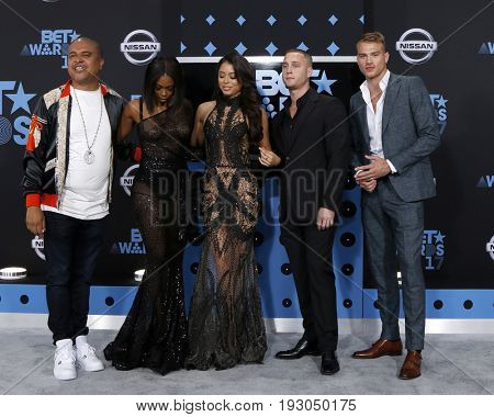 LOS ANGELES - JUN 25:  Irv Gotti, Nafessa Williams, Michelle Hayden, Chet Hanks, Matthew Noszka at the BET Awards 2017 at the Microsoft Theater on June 25, 2017 in Los Angeles, CA