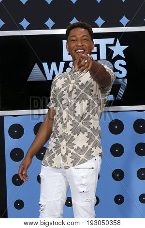 LOS ANGELES - JUN 25:  Jacob Latimore at the BET Awards 2017 at the Microsoft Theater on June 25, 2017 in Los Angeles, CA