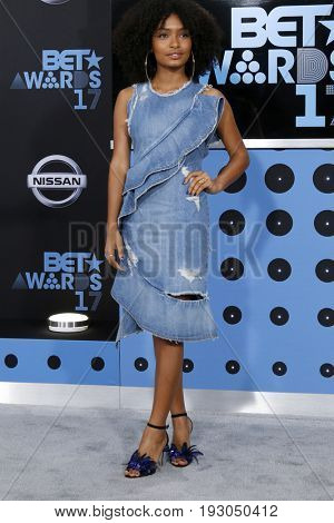 LOS ANGELES - JUN 25:  Yara Shahidi at the BET Awards 2017 at the Microsoft Theater on June 25, 2017 in Los Angeles, CA