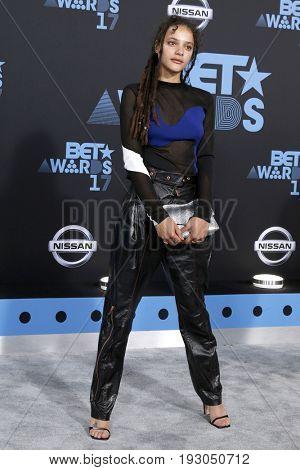 LOS ANGELES - JUN 25:  Sasha Lane at the BET Awards 2017 at the Microsoft Theater on June 25, 2017 in Los Angeles, CA