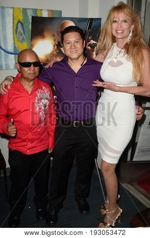 LOS ANGELES - JUN 25:  David Prak, Benny Tjandra, Laurene Landon at