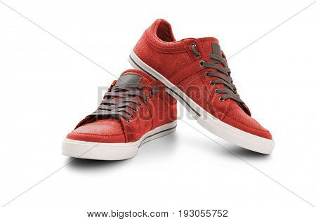 Casual shoes on white background, included clipping path