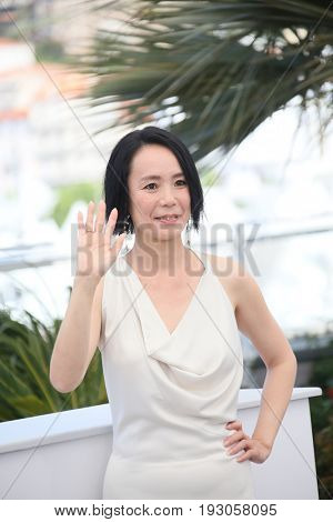 Director Naomi Kawase attends the 'Hikari (Radiance)' photocall during the 70th annual Cannes Film Festival at Palais des Festivals on May 23, 2017 in Cannes, France.
