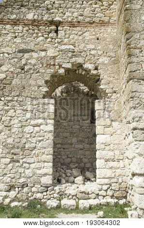 Ruin of Medieval Byzantine fortress Bukelon Bulgaria Europe