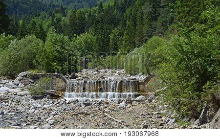 The mid-June rural landscape of the Carnic Alps near Pontebba Friuli Venezie Giulia north east Italy.