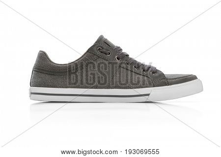 Men casual shoes on white background, Clipping path included