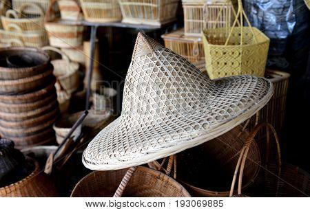 Bamboo Basketwork Natural Handmade