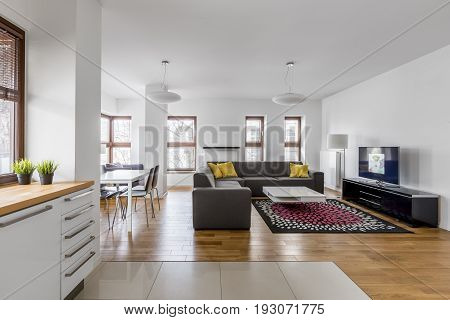 Modern Apartment With Living Room