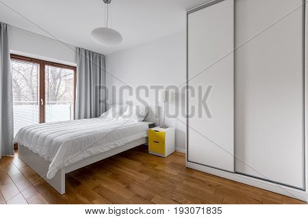 White Bedroom With Wardrobe