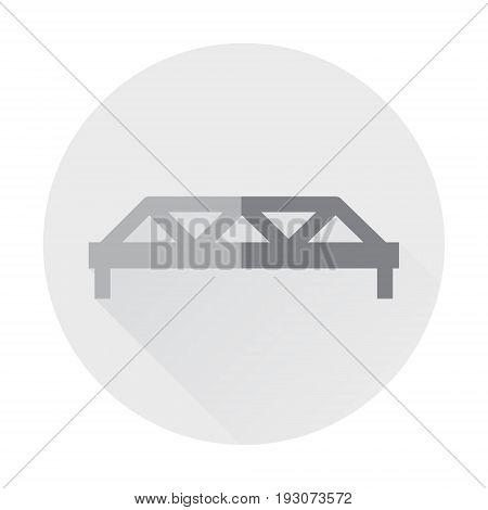 bridge landmark flat icon with long shadow