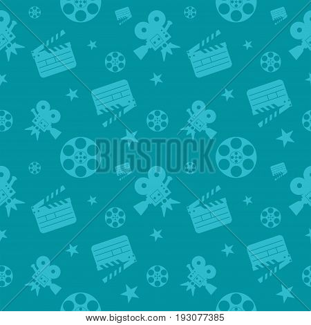 Cinema Seamless Pattern Blue