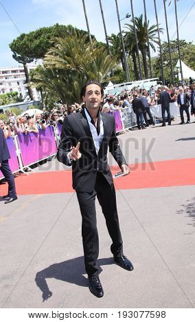 Adrien Brody attends the 70th Anniversary photocall during the 70th annual Cannes Film Festival at Palais des Festivals on May 23, 2017 in Cannes, France.