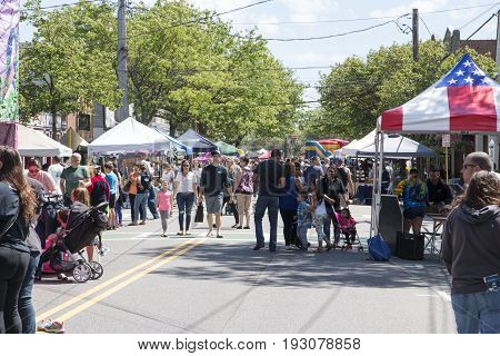 The annual Babylon Village street fair was held on June 3 2017. The event was held on a closedDeer Park Ave and brought out plenty of people ond lots of vendors