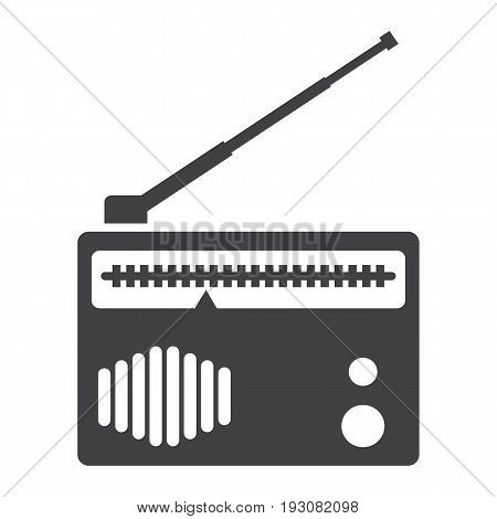 Radio solid icon, fm and communication, vector graphics, a glyph pattern on a white background, eps 10.