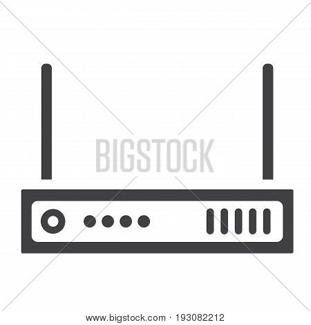 Router solid icon, internet and wireless wifi, vector graphics, a glyph pattern on a white background, eps 10.