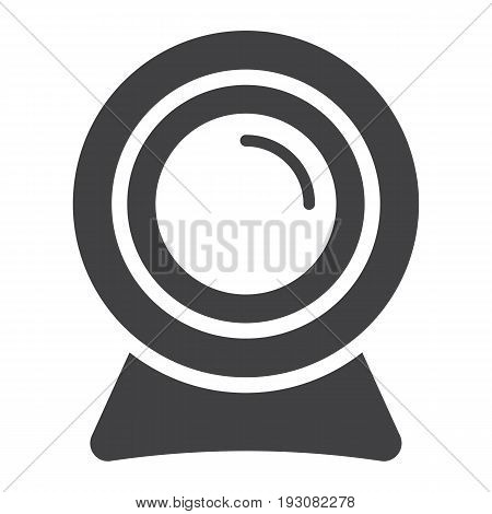 Webcam solid icon, device and camera, vector graphics, a glyph pattern on a white background, eps 10.
